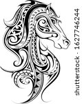 horse shape tattoo made with... | Shutterstock .eps vector #1627746244