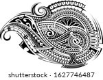ethnic tattoo shape in... | Shutterstock .eps vector #1627746487