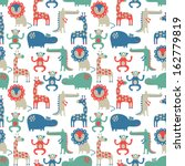 african animal seamless pattern  | Shutterstock .eps vector #162779819