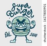 super burger logo vector...   Shutterstock .eps vector #1627800901