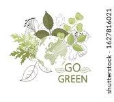 go green. globe. ecology theme... | Shutterstock .eps vector #1627816021