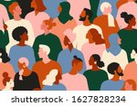 crowd of young and elderly men... | Shutterstock .eps vector #1627828234