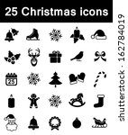 set of christmas icons | Shutterstock .eps vector #162784019
