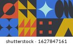 neo modernism artwork pattern...   Shutterstock .eps vector #1627847161