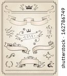 vintage wedding graphic set ... | Shutterstock .eps vector #162786749