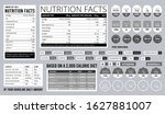 nutrition facts info. food... | Shutterstock .eps vector #1627881007