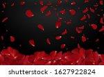 falling red rose petals... | Shutterstock .eps vector #1627922824
