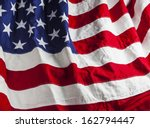 closeup of american flag | Shutterstock . vector #162794447