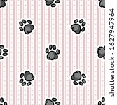 cute gray animal paw pad... | Shutterstock .eps vector #1627947964