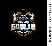 gorilla cartoon character with... | Shutterstock .eps vector #1627951981