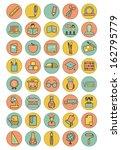 vector full color education... | Shutterstock .eps vector #162795779