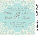 wedding card | Shutterstock .eps vector #162799079
