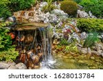 Small Artificial Waterfall In...