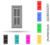 door with glass multi color...