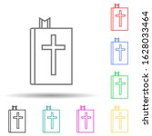 bible multi color style icon....