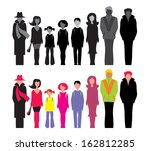 set of silhouette images of... | Shutterstock .eps vector #162812285