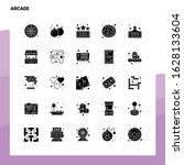 25 arcade icon set. solid glyph ...