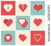 heart icons set  ideal for... | Shutterstock .eps vector #162814391
