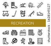 set of recreation icons. such... | Shutterstock .eps vector #1628145127