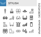 set of stylish icons. such as...   Shutterstock .eps vector #1628145151