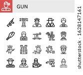 gun icon set. collection of... | Shutterstock .eps vector #1628147161