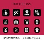 trick icon set. 12 filled trick ... | Shutterstock .eps vector #1628149111