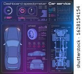 car diagnostics with futuristic ...