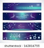 set of colorful christmas  new... | Shutterstock .eps vector #162816755
