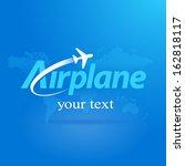 airplane flight plane symbol... | Shutterstock .eps vector #162818117