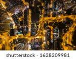 Aerial View Of Hong Kong At...
