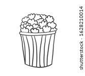 bucket of popcorn. vector...   Shutterstock .eps vector #1628210014