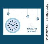 eid mubarak greeting card... | Shutterstock .eps vector #1628236687