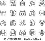 set of teamwork icons  business ... | Shutterstock .eps vector #1628242621