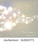 elegant christmas beige... | Shutterstock .eps vector #162824771