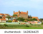 gniew town with teutonic castle ... | Shutterstock . vector #162826625