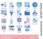 influencer marketing icons...   Shutterstock .eps vector #1628272654