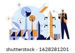 eco construction site flat... | Shutterstock .eps vector #1628281201