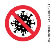 Sign Caution Coronavirus. Stop...