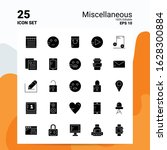 25 miscellaneous icon set. 100  ... | Shutterstock .eps vector #1628300884