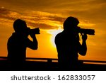 silhouette of a photographer | Shutterstock . vector #162833057