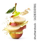 pear shatters with juice on a... | Shutterstock . vector #1628333581