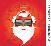 christmas hipster poster for... | Shutterstock .eps vector #162835799