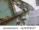Old Metal Structure On The Roof