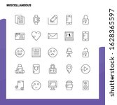 set of miscellaneous line icon... | Shutterstock .eps vector #1628365597