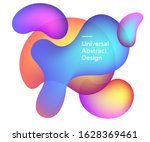 abstract gradient flowy circles.... | Shutterstock .eps vector #1628369461