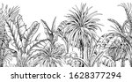 seamless border with black and...   Shutterstock .eps vector #1628377294