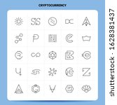 outline 25 cryptocurrency icon...   Shutterstock .eps vector #1628381437