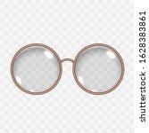 translucent round empty eye... | Shutterstock .eps vector #1628383861