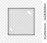 translucent empty glass square... | Shutterstock .eps vector #1628383864