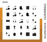25 devices icon set. solid... | Shutterstock .eps vector #1628388661